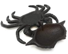 6.75 Inches Wide Miller Horticultural Cast Iron Nautical Crab Statue Hinged Lid Key Hider