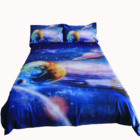 3D starry sky microfiber bed cover bed sheet sets