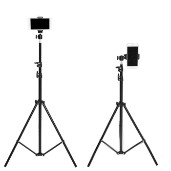 2.1m Professional photography light stand black Aluminium phone camera tripod for smartphone