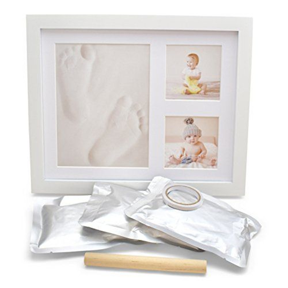 Baby Handprint Footprint Photo Frame Kit for Newborn Girls Boys Shower Gifts