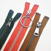 3# 5# 8# Open-End High Polished Plating Durable Brass Metal Zipper For leather Jacket and Jeans