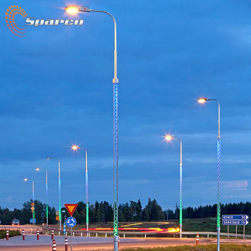 6M 8M 10M 12M Aluminum/Stainless steel/Galvanized Steel light pole Decorative fluorescent led light pole for roadway