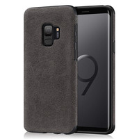Laudtec Luxury Slim Case Made of Alcantara for Samsung Galaxy S9 Case Mobile Phone Cover