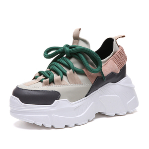 New Arrivals 2019 Womens Sport 8 Cm Height Increasing Wedge Trainer Platform Casual Sport Walking Shoes Designer Sneakers Women