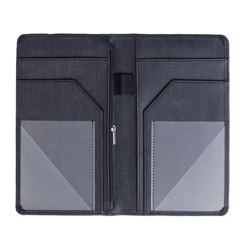 Server Book with Zipper Pocket Restaurant Menu and Bill Holder Organizer fit Server Apron with Money Pocket