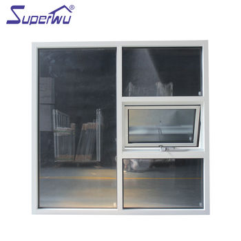 Microprocessor awning window with grill easy cleaning aluminum double glazing Fast delivery