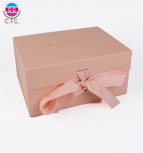 Custom Logo Luxury 판지 (eiffel tower) 자기 접는 Gift Box 와 Ribbon 폐쇄