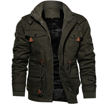 Thick woven washed warm up jacket men winter clothing cotton jacket for men