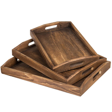 Home Cheap Wood Serving Tray Food Breakfast Tray Set