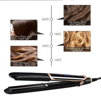LCD Display Negative Ion Flat Iron Fast Straightening Hair Curler Curling Irons Professional Ceramic Anion Hair Straightener