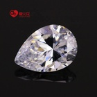 3*4-8*10mm white pear shape loose synthetic gemstone cz cubic zirconia cz stone