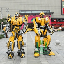 Formato Bumble bee Cosplay umani L'esecuzione di Robot <span class=keywords><strong>Costume</strong></span> Vestito