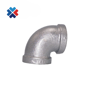 black malleable iron pipe fitting male female elbow 90 degree China supplier pipe fittings 1/2 inch pipe fittings