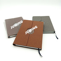 A5 PU Leather Hardcover Tri-fold Notebook Cover with Magnet, Note Books, Planner, Organizer ,Agenda