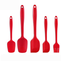 Best Selling Products Kitchen Accessories Set Durable Non-stick Bakery Equipment 5 pcs Silicone Scraper Set Cake Brush Spatula