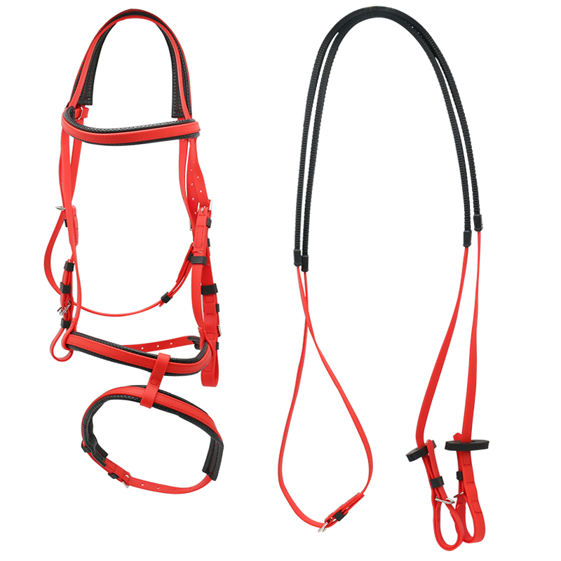 Equestrian Horse Riding Equipment Bridles,PVC Horse Bridle Supplies With Rein