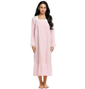 78394ea589f Fashion Design Women Sleepwear Victorian Sleepshirts Long Sleep Wear Dress  Cotton Nightgown