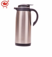 Portable glass refill vacuum coffee pot with stainless steel body
