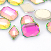 K9 Glass Vitrail Rose Color Flat Back Non Hot Fix Rhinestones Nail Art Stone for Nail Decoration Phone Case Garment