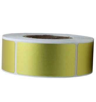 "Hybsk 1""x 2"" Rectangle Metallic Gold Code Square Sticker Labels 500 Per Roll"
