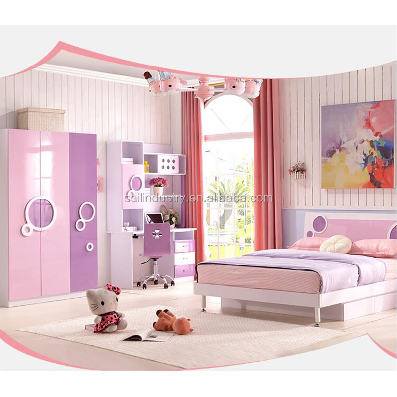 Girls Bedroom Set With Pink Colour - Buy Girls Bedroom Sets,Modern Bedroom  Sets,Lovely Teen Girl Set Product on Alibaba.com