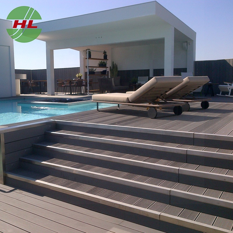 With great price wpc material composite decking from china outdoor decking material