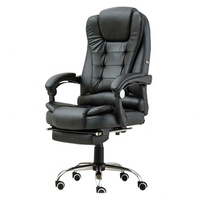 Ergonomics Lift Chair Swivel Chair Leather Sleeping Office Chair With Footrest
