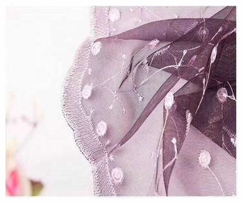 Lace swiss voile lace Splendid organza Multicolor net embroidered fabric