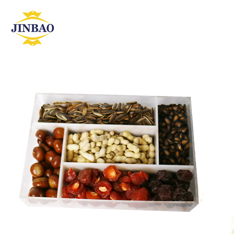JINBAO Klar Zugunsten Boxen acryl candy bar display Brot Display Fall