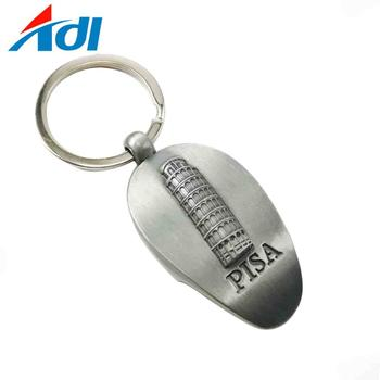 Custom personalised shape design Logo Metal Keychains for Sale