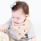 Organic bamboo animal baby bibs round Cotton Bandana Bibs Baby Babador Feeding Smock Infant Burp Cloths Cartoon Saliva Towel