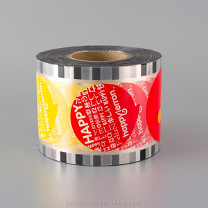 Laminating Aluminum Foil Plastic Cup Sealing Roll Film for Food Packaging