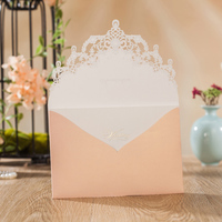 Wishmade Luxury Laser Cut Wedding Invitations Cards Quinceanera Baby Shower Anniversary Party Invitation Card