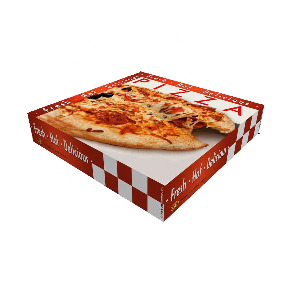 Custom logo gegolfd 16 inch Pizza box