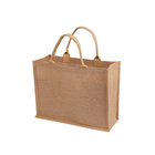 Handled Jute Bags Shopping Wholesale Personalized Eco-Friendly Shopping Packaging Jute Tote Bags