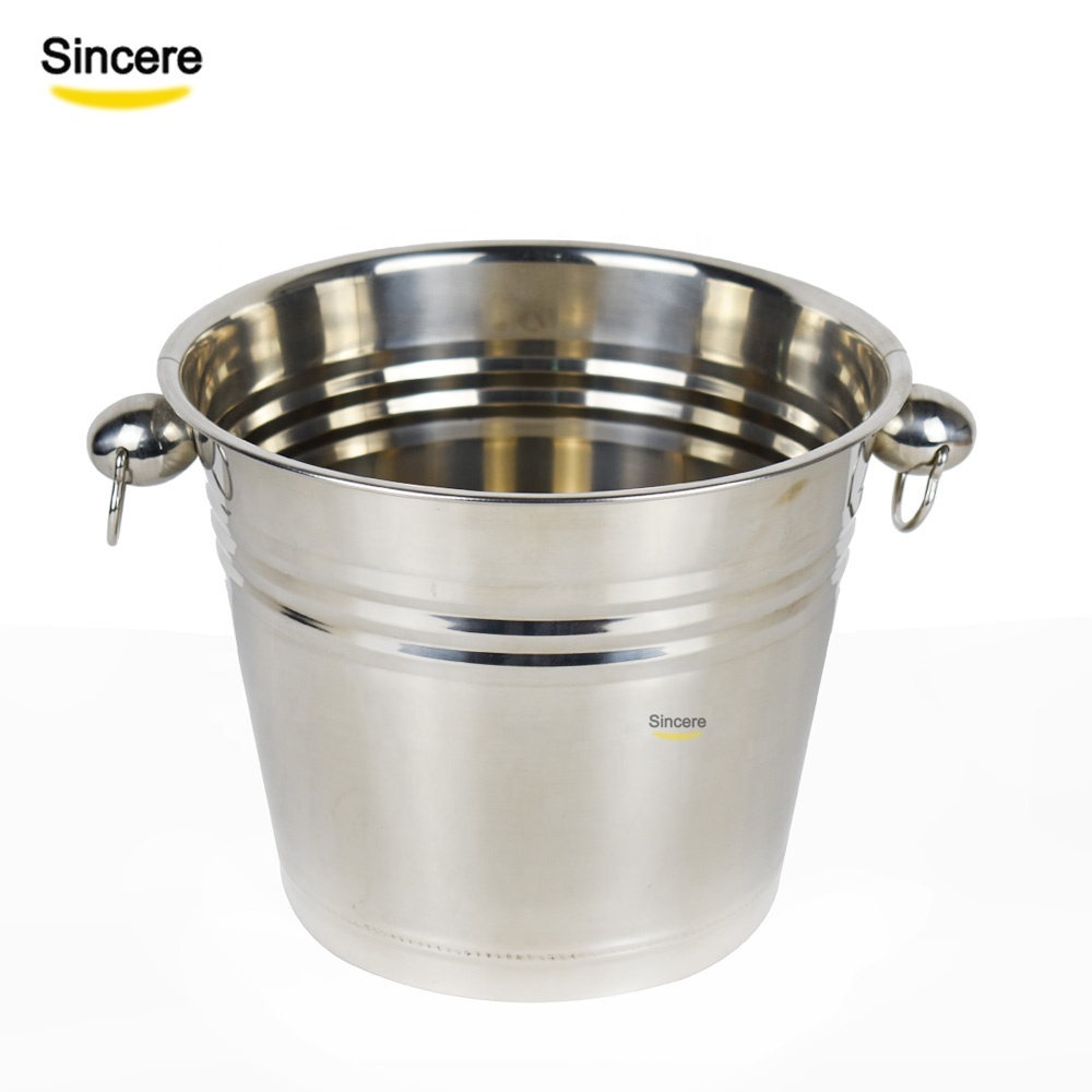바 액세서리 Metal Wine 맥주 더 시원해 Stainless Steel Ice Bucket 6L