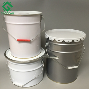 High quality paint bucket tin chemical 20 litre metal pail with lid