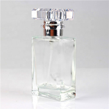 50ml 30ml rectangular shape clear black perfume glass bottle