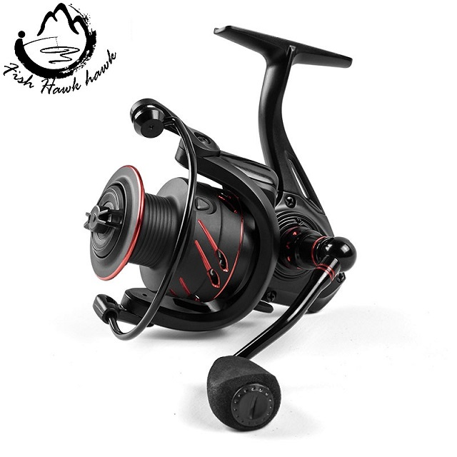 BaitCasting Reel 12+1BB Saltwater Spinning Carp Fishing Reel, As shown