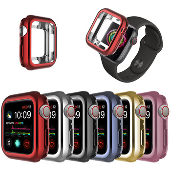 Luxury Electroplating TPU Protective Cover Case for Apple Watch Series 4 40mm 44mm