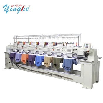 high quality 12, 15 needles 2 head  embroidery machine/High speed cheap multi head t shirt hat embroidery machine