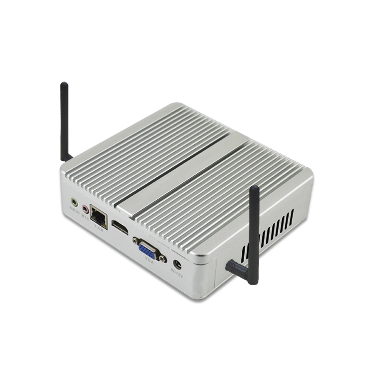 OEM x86 fanless mini industriale portatile pc desktop 12 v core i5 caso con slot pci express a basso costo mini del computer