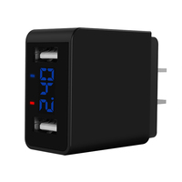 5v 2.4a 2.4 amp portable dual usb universal digital display travel original fast wall charger charging