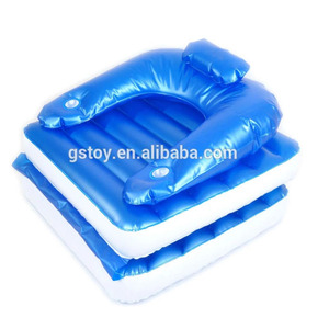 foldable inflatable pool lounge floating chair for adult
