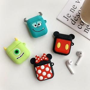 Custom Colors Cartoon Image silicone wireless headset case bag