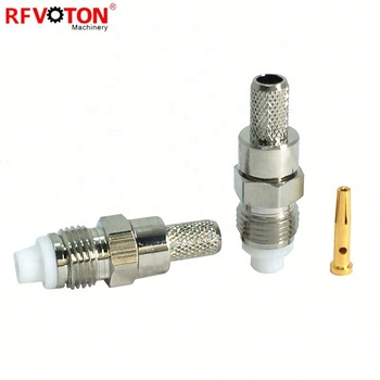 RG400 Cable Pigtail Connector Crimp Type FME Female Jack Straight Connector