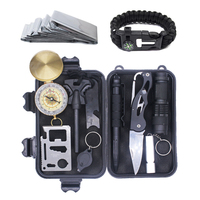 12 in 1 Outdoor Military Utility Emergency Multipurpose Tool SOS Survival Kit Tools
