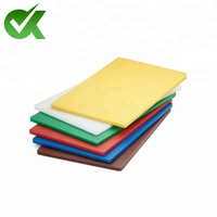plastic kitchen cutting board promotional square chopping board polyethylene block
