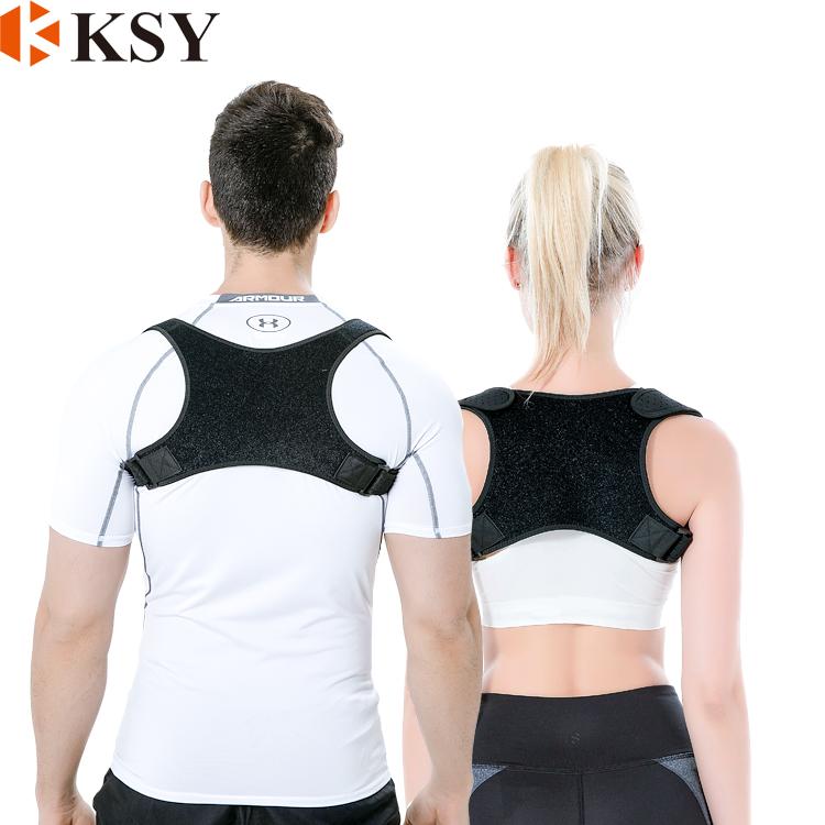 Adjustable back posture corrector brace support back brace for men, Black