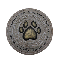 Custom Gone but not forgotten Paw Print Pet Resin Memorial Stepping Stone